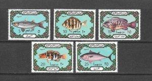 FISH - LIBYA #526-30  MNH
