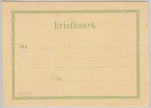 PORTUGAL colonies : Curaçao CURACAO -  POSTAL STATIONERY  Formular Card