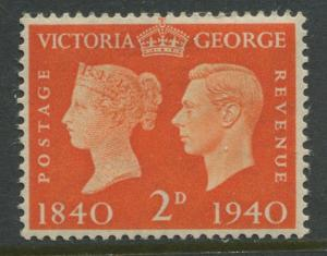 Great Britain - Scott 255 -KGVI Definitive -1940 - MLH - Single 2p- Stamp