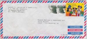 ANTIGUA & BARBUDA -  POSTAL HISTORY - COVER to ITALY 1994 - BUTTERFLIES Disney