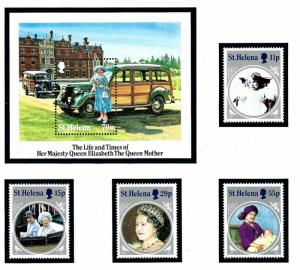 St Helena 428-32 MNH 1985 Queen Mother Birthday