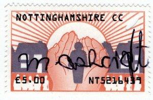 (I.B) Elizabeth II Revenue : Nottinghamshire Council Fees £5 (Home Help)