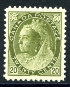 CANADA: Sc.#84  **  20¢ Olive Green, SPECTACULAR example, PERFECTLY CENTERED...