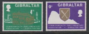 Gibraltar Sc#219-220 MNH