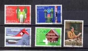 Switzerland 694-698 used