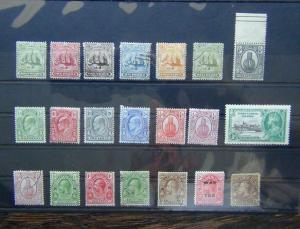 Turks & Caicos 1900 values to 4d 1909 values to 2.5d 1928 values to 2.5d