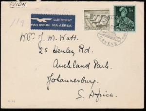 SWITZERLAND 1955 cover United Nations, Geneva cds to Sth Africa............46727