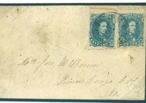 AMERICAN CIVIL WAR Cover 1862 CSA Confederacy Prince George Va {samwellls} S136