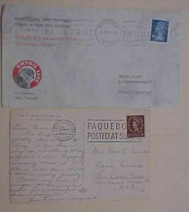 GREAT BRITAIN  USED in NORWAY PAQUEBOT 1983 #631 BERGEN , SOUTHAMPTON 1956