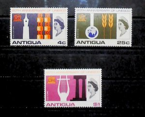 British Colony Antigua 1966 20th Anniv of UNESCO MH* Full Set A22P16F8715