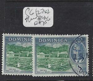 DOMINICA (PP1903B)  KGVI  8C    SG 127 X 2 SHADES     VFU