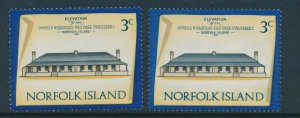 NORFOLK ISLAND : 1974 Building 3c 2 Different printings MNH **.