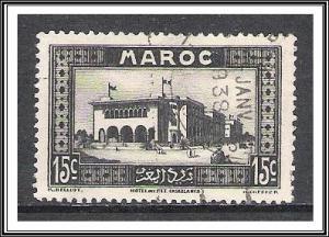 French Morocco #129 Post Office Used