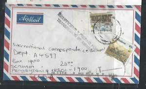 ZIMBABWE COVER (P0611B) 40C+$2 A/M COVER INSUFFICIENTLY PD FOR AIRMAIL TAXED