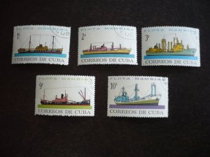 Stamps - Cuba - Scott# 841-845 - Used Set of 5 Stamps