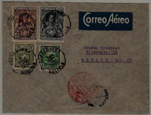 Bolivia/Germany Zeppelin cover 1.5.32 Cochabamba