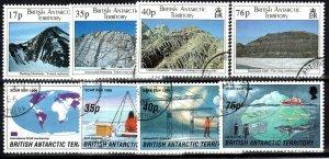 British Antarctic Territory #231-8  F-VF Used CV $26.10 (X775)