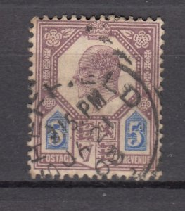 J27545 1902-11 great britain used #134 king