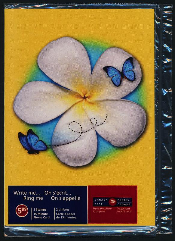 Canada 2045i in original Package MNH Write Me -Ring Me - Butterfly & Flower