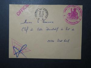 French Polynesia 1973 Stampless Military Cover / Signed - Z11090