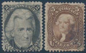 #73 & #76 (2) DIFFERENT USED F-VF WITH TEAR (FAULTY) CV $180 AU226