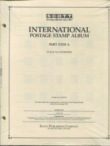 Scott National Postage Stamp Album #23A 1987 US - Korea Supplement 384 PAGES