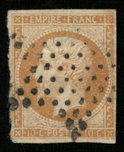 Emperor Napoléon III, 10 c, 1853 -1861, MC #12Ia (T-6491)