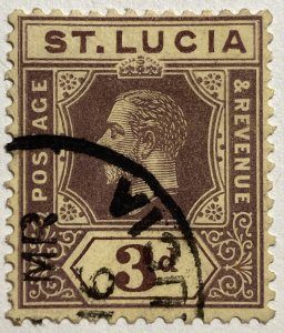 AlexStamps ST LUCIA #60 VF Used