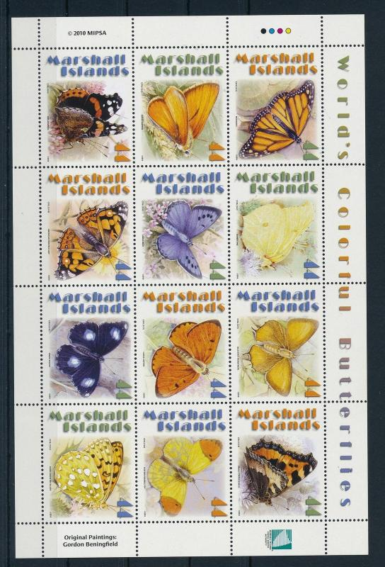 [23347] Marshall Islands 2010 Butterflies Papillons Schmetterlinge MNH Sheet