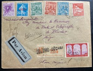 1934 Béchar Argelia Airmail Mixed Franking Cover To Zinder Nigeria