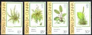 Tristan Da Cunha Sc# 460-463 MNH 1989 Ferns