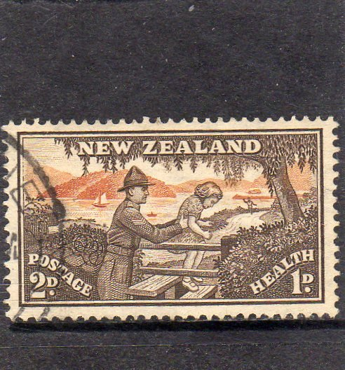 New Zealand Early Health Stamp used