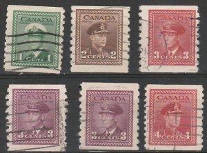 #263-7 Canada Used George VI coils