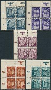 Stamp Germany Poland General Gov't Mi 066-70 Block 1940 WWII War TL MNH