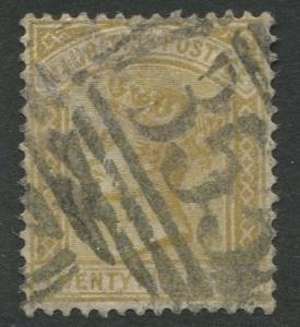 Mauritius - Scott 74 - QV Definitive -1882 - Used - Single 25c Stamp