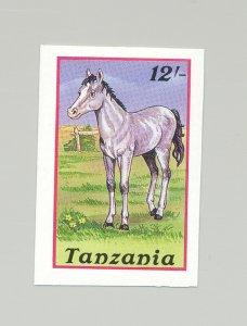 Tanzania #438 Horses, Animals 1v Imperf Proof