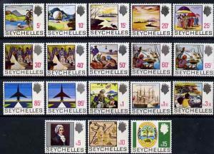 Seychelles 1969-75 definitive set complete 18v unmounted ...