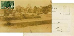 Ivory Coast 1F Gen. Louis Faidherbe 1908 Larou, Cote d'Ivoire PPC to Paris, F...
