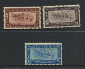 STAMP STATION PERTH Egypt #231-233 General Issue Used  1938