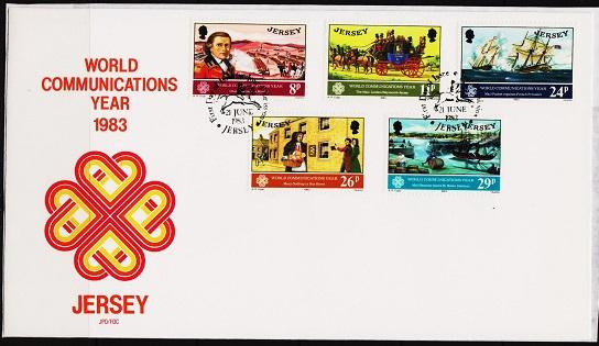 Jersey. 1983 FDC. Communications. Fine Used