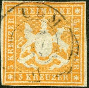 Wuertenberg  Mi.# 12  used