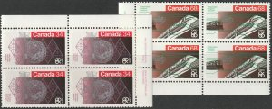 Canada 1092-1093 set plate blocks MNH