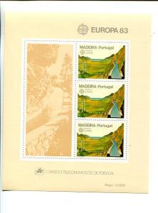 Portugal  Madeira 1983 Europa mini sheet   Mint VF NH