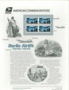USPS COMMEMORATIVE PANEL #542 BERLIN AIRLIFT #3211