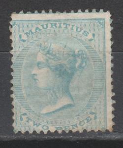 MAURITIUS 1860 QV 2D NO WMK