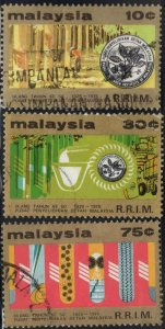 Malaysia Scott 135-137 Used Rubber industry set