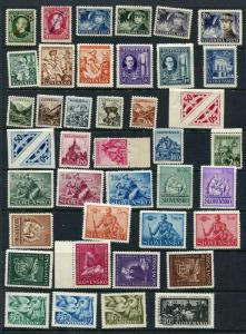 Slovakia 1939-1945 Accumulation Complete Sets MNH (4 Stamps Are MH) CV 71 Euro
