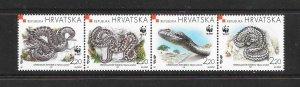 SNAKES - CROATIA #391  WWF  MNH