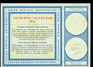 Isle of Man 10 p. International Reply Coupon IRC