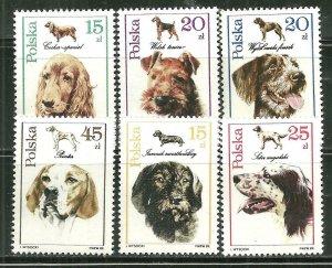 Poland MNH 2900-5 Adorable Dogs